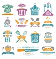 Coocking badge vector image