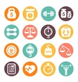 weight and fitness colored icon set vector image