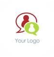 chat talk bubble logo vector image