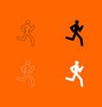 running man - stick icon vector image