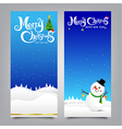 028 Merry Christmas banner Collection of greeting vector image vector image