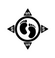 1250 social distancing footprint 6ft vector image