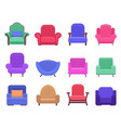 armchair furniture armchair sofa apartment vector image