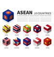 asean association southeast asian nations and vector image vector image