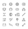 auto service thin icons vector image