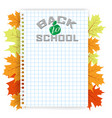 back to school design - a sheet of paper into the vector image