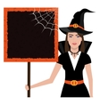 Beautiful woman with witch custome vector image
