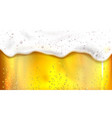 beer with bubbles and foam background