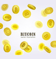 bitcoin banner frame with falling btc coins vector image vector image