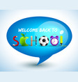 blue back to school background vector image