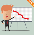 Cartoon business man present information - - vector image vector image