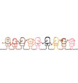 cartoon people of the world vector image