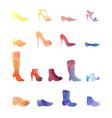 color set different shoes vector image