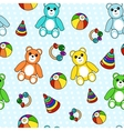 Colorful seamless pattern with toys vector image vector image