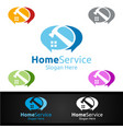 community real estate and fix home repair vector image vector image