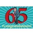 Congratulations 65 anniversary event celebration vector image vector image