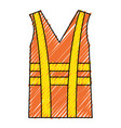 construction jacket isolated icon vector image vector image