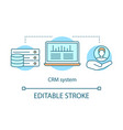 crm system concept icon vector image