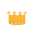 crown monarch royal jewelry coronation and power vector image
