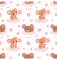 cute mice pattern vector image vector image