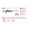 Details of gun sniper rifle Game perks vector image vector image