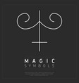 element of magical symbol on gray vector image vector image
