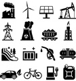 Energy icons black vector image vector image