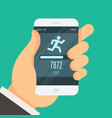 fitness tracker app - step counter to lose weight vector image vector image