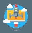 Flat design concept for Startup for web ban vector image