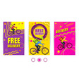 free delivery and best delivery text set banner vector image