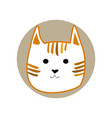 ginger striped cute cartoon style cat in shape of vector image vector image