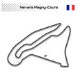 grand prix race track for motorsport and autosport vector image vector image