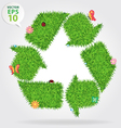 Grass recycle symbol vector image