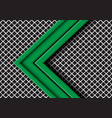green arrow direction overlap on grey mesh vector image
