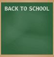 green school board with chalk inscription back vector image