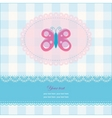 greeting card with copy space and butterfly vector image