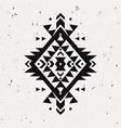grunge monochrome decorative ethnic pattern vector image
