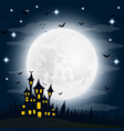 halloween the witch s house on the full moon