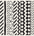 hand drawn painted seamless pattern tribal vector image vector image