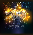 happy new year 2019 triangle line type on vector image vector image