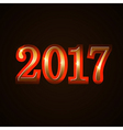 Happy New Year background gold 2017 vector image vector image