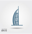 hotel burj al arab in united arab emirates icon vector image vector image