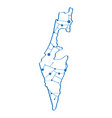 isolated map of israel vector image vector image