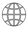 isolated sphere global communication vector image