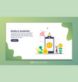 landing page template mobile banking modern vector image vector image