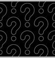 line art question marks seamless pattern vector image