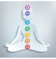 Meditation and chakras vector image vector image