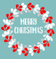 merry christmas pastel card with wreath vector image
