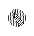 pencil engrave logo icon vector image