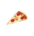 pizza slice on white background vector image